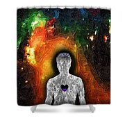 Shielded From God Shower Curtain