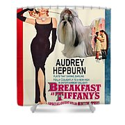 Shih Tzu Art - Breakfast At Tiffany Movie Poster Shower Curtain
