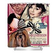 Shih Tzu Art - My Fair Lady Movie Poster Shower Curtain