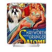 Shih Tzu Art - Salome Movie Poster Shower Curtain