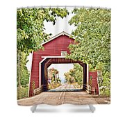 Shimanek Covered Bridge Shower Curtain