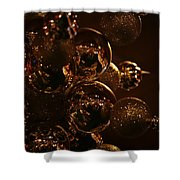 Shimmer In Gold Shower Curtain