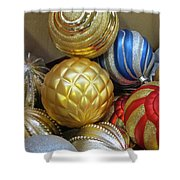 Shimmering Bauble Shower Curtain