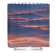 Shimmering Clouds Shower Curtain