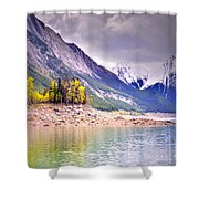 Shimmering Water At Medicine Lake Shower Curtain