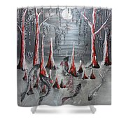 Shimmering Waters Shower Curtain