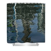 Shimmers Ripples And Luminosity Shower Curtain