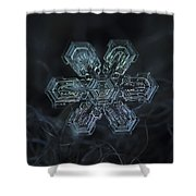 Snowflake Photo - Shine Shower Curtain by Alexey Kljatov