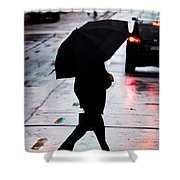 Shine Of Streets Shower Curtain