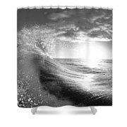 Shiny Comforter Shower Curtain