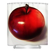 Shiny Red Apple Shower Curtain