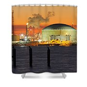 Shiny Refinery #3 2am-27808 Shower Curtain