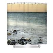 Shiny Rocks At The Sea Shower Curtain