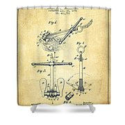 Ship Anchor Patent From 1892 - Vintage Shower Curtain
