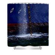 Ship At Anchor Shower Curtain