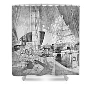 Ship Austria, C1816 Shower Curtain