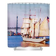 Ship Coming In Shower Curtain
