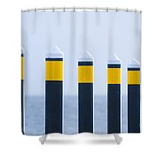 Ship Guides Shower Curtain