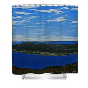 Ship Harbour From Sugarloaf Hill Shower Curtain