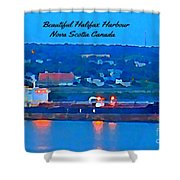 Ship In Beautiful Halifax Harbour Shower Curtain