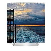Ship Lamps Shower Curtain