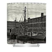 Ship Mooring Vintage Shower Curtain