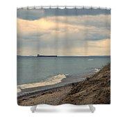 Ship On The Horizon Shower Curtain