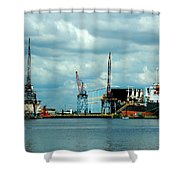 Ship Repair Shower Curtain