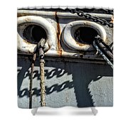 Ship Ropes Chains Shower Curtain