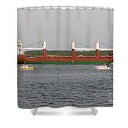 Ship Traffic At Casco Bay Shower Curtain
