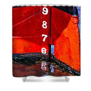 Ship Waterline Numbers Shower Curtain