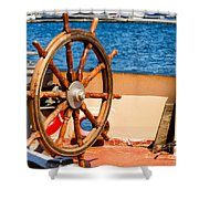 Ship Wheel Shower Curtain