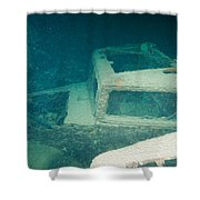 Ship Wreck With Trucks Shower Curtain