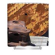 Ship Yard Rust 5 Shower Curtain