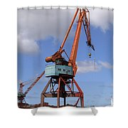 Shipping Industry Crane 06 Shower Curtain