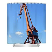 Shipping Industry Crane Shower Curtain