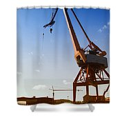Shipping Industry Dock Shower Curtain