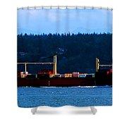 Shipping Lane Shower Curtain
