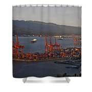 Shipping Terminals Port Of Vancouver Shower Curtain