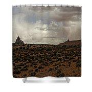 Shiprock 3 Shower Curtain