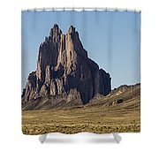 Shiprock Panorama - North West New Mexico Shower Curtain