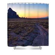 Shiprock Sunset Shower Curtain