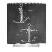 Ship's Anchor Patent Shower Curtain