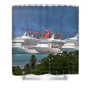 Ships And Atlantis Shower Curtain