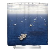 Ships And Submarines Participating Shower Curtain