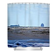 Ships At Sea Shower Curtain