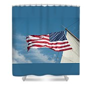 Ship's Flag Shower Curtain