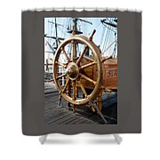 Ship's Helm Shower Curtain