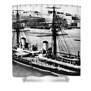 Ships Hms 'inflexible Shower Curtain