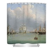 Ships Off Ryde Shower Curtain